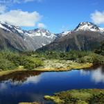 Горное озеро в Новой Зеландии
