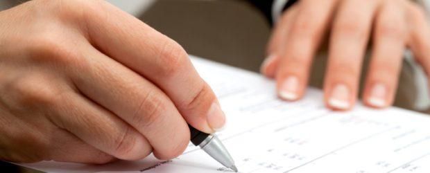 документы заполнять ручкой