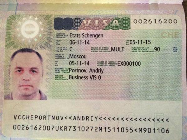 Швейцарская виза категории C