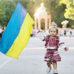 с флагом Украины
