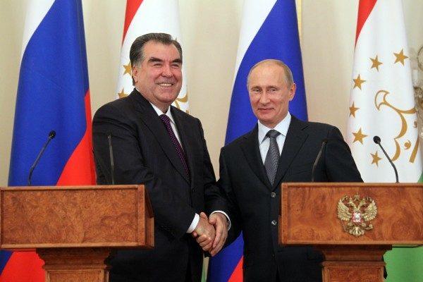 Президенты России и Таджикистана