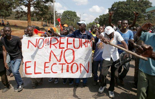 Протесты в Нигерии