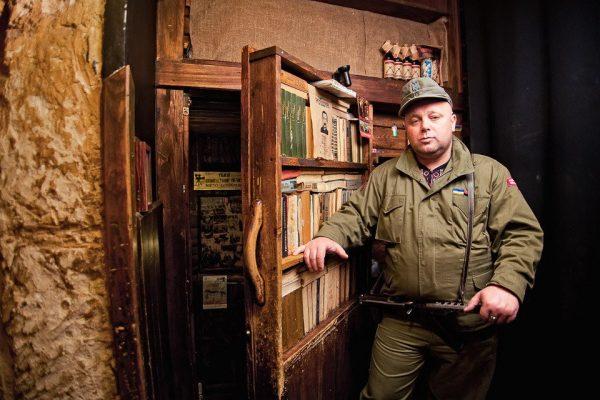 Вход в антироссийское кафе во Львове