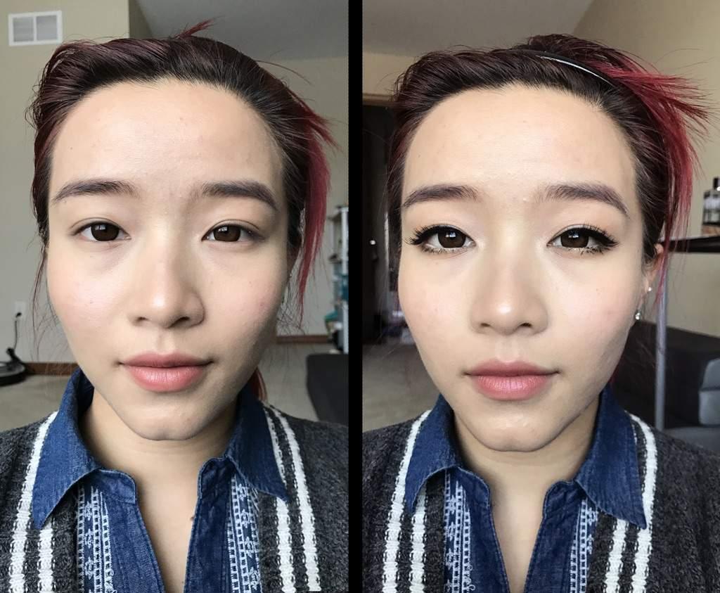 корейский макияж до и после фото зимняя груша