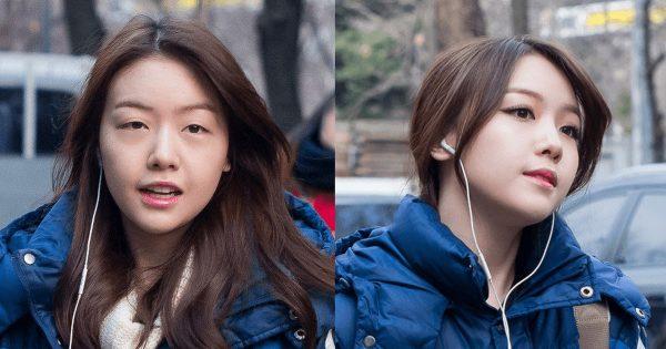 Японка до и после нанесения макияжа