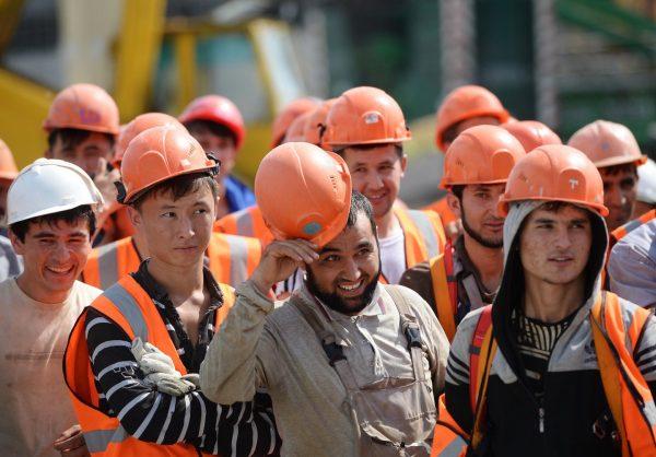 Рабочие-туркмены
